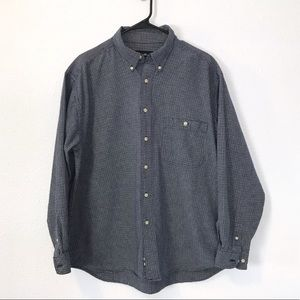 Eddie Bauer L Button Down Shirt Thick Cotton